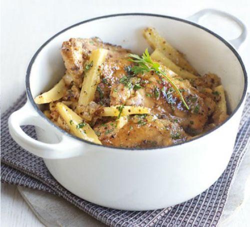 Honey and mustard chicken pot